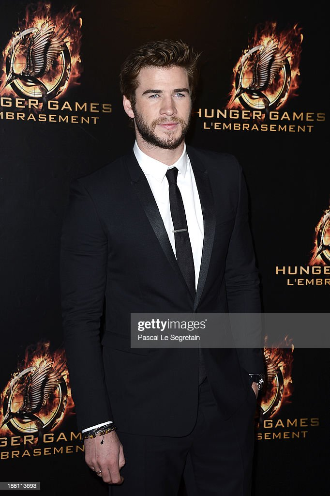 <a gi-track='captionPersonalityLinkClicked' href=/galleries/search?phrase=Liam+Hemsworth&family=editorial&specificpeople=6338547 ng-click='$event.stopPropagation()'>Liam Hemsworth</a> attends 'The Hunger Games: Catching Fire' Paris Premiere at Le Grand Rex on November 15, 2013 in Paris, France.