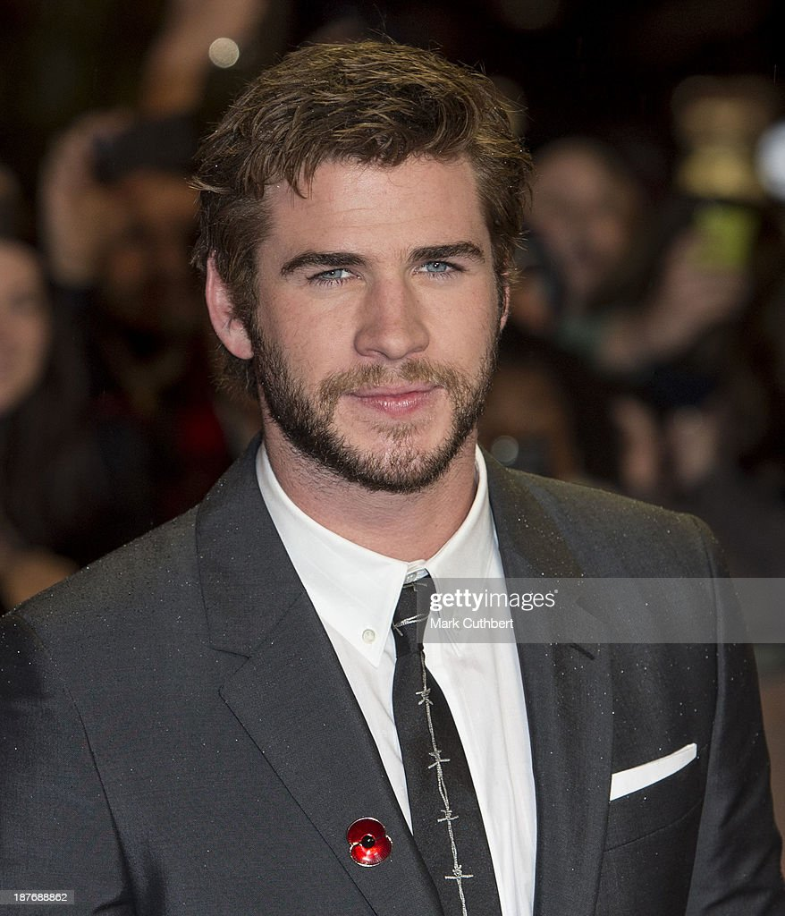<a gi-track='captionPersonalityLinkClicked' href=/galleries/search?phrase=Liam+Hemsworth&family=editorial&specificpeople=6338547 ng-click='$event.stopPropagation()'>Liam Hemsworth</a> attends the UK Premiere of 'The Hunger Games: Catching Fire' at Odeon Leicester Square on November 11, 2013 in London, England.