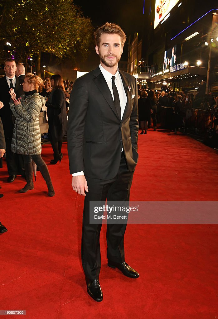 Liam Hemsworth attends the UK Premiere of 'The Hunger Games: Mockingjay Part 2' at Odeon Leicester Square on November 5, 2015 in London, England.