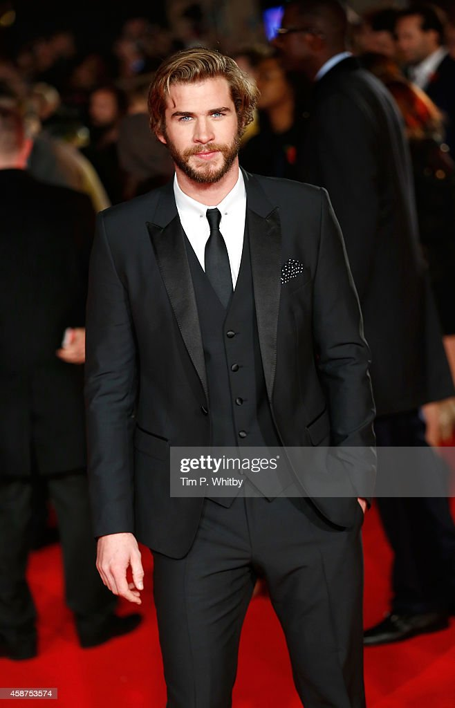 Liam Hemsworth attends the World Premiere of 'The Hunger Games Mockingjay Part 1' at Odeon Leicester Square on November 10 2014 in London England