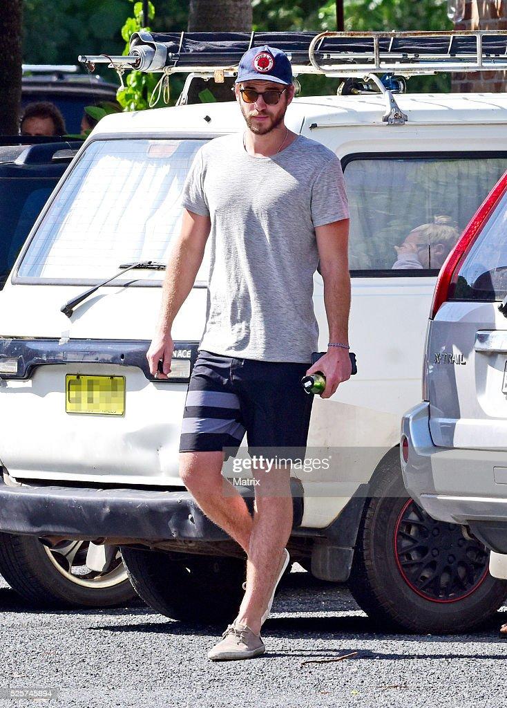 Liam Hemsworth is seen on April 29, 2016 in Byron Bay, Australia.