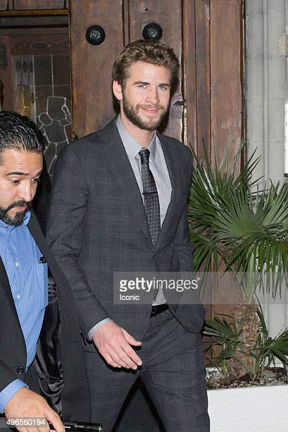 Liam Hemsworth seen on November 10 2015 in Madrid Spain