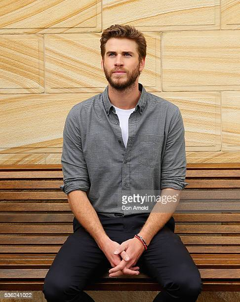 Liam Hensworth poses during an 'Independence Day Resurgence' photo call outside the Park Hyatt on June 1 2016 in Sydney Australia