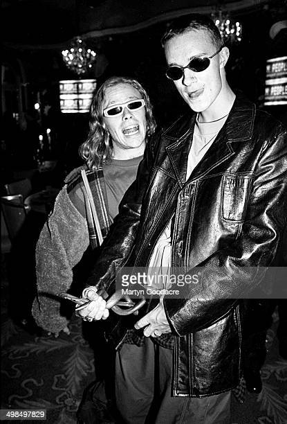 Liam Howlett And Keith Flint of the Prodigy at the Mercury Music Prize awards ceremony United Kingdom 1994