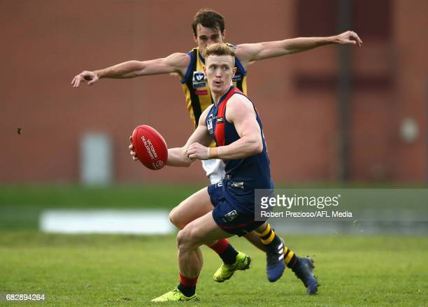 Liam Hunt of Coburg runs during the round five VFL match between Coburg and Sandringham at Pirhana Park on May 14 2017 in Melbourne Australia