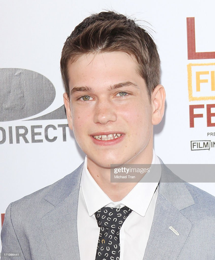 <a gi-track='captionPersonalityLinkClicked' href=/galleries/search?phrase=Liam+James&family=editorial&specificpeople=4607920 ng-click='$event.stopPropagation()'>Liam James</a> arrives at the 2013 Los Angeles Film Festival 'The Way, Way Back' closing night gala held at Regal Cinemas L.A. LIVE Stadium 14 on June 23, 2013 in Los Angeles, California.