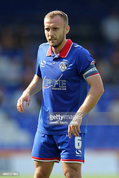Liam Kelly of Oldham Athletic during the Sky Bet League One match between Oldham Athletic and Shrewsbury Town at Boundary Park on August 22 2015 in...