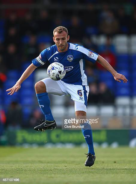 Liam Kelly of Oldham Athletic in action during the Sky Bet League One match between Oldham Athletic and Walsall at Boundary Park on October 11 2014...