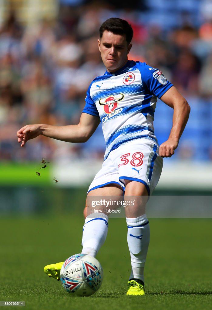 Liam Kelly of Reading in action during the Sky Bet Championship match between Reading and Fulham at Madejski Stadium on August 12, 2017 in Reading, England.