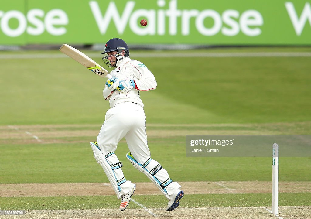 Liam Livingstone of Lancashire bats during day two of the Specsavers County Championship: Division One match between Yorkshire and Lancashire at Headingley on May 30, 2016 in Leeds, England.