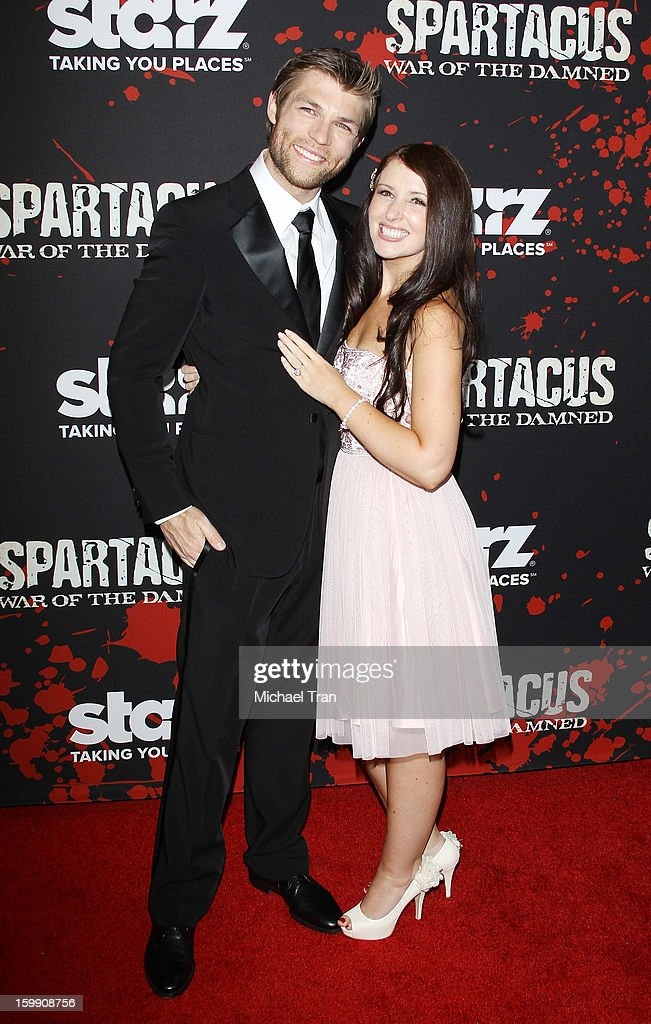<a gi-track='captionPersonalityLinkClicked' href=/galleries/search?phrase=Liam+McIntyre&family=editorial&specificpeople=7988275 ng-click='$event.stopPropagation()'>Liam McIntyre</a> (L) and Erin Hasan arrive at the Los Angeles premiere of 'Spartacus: War Of The Damned' held at Regal Cinemas L.A. LIVE Stadium 14 on January 22, 2013 in Los Angeles, California.