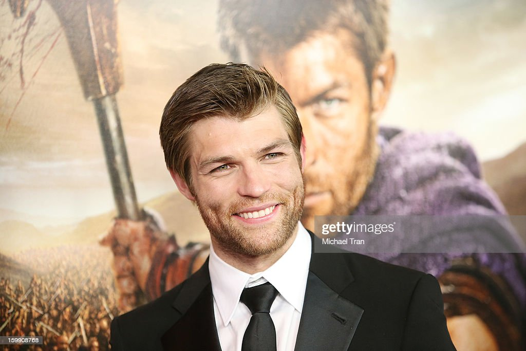 Liam McIntyre arrives at the Los Angeles premiere of 'Spartacus: War Of The Damned' held at Regal Cinemas L.A. LIVE Stadium 14 on January 22, 2013 in Los Angeles, California.