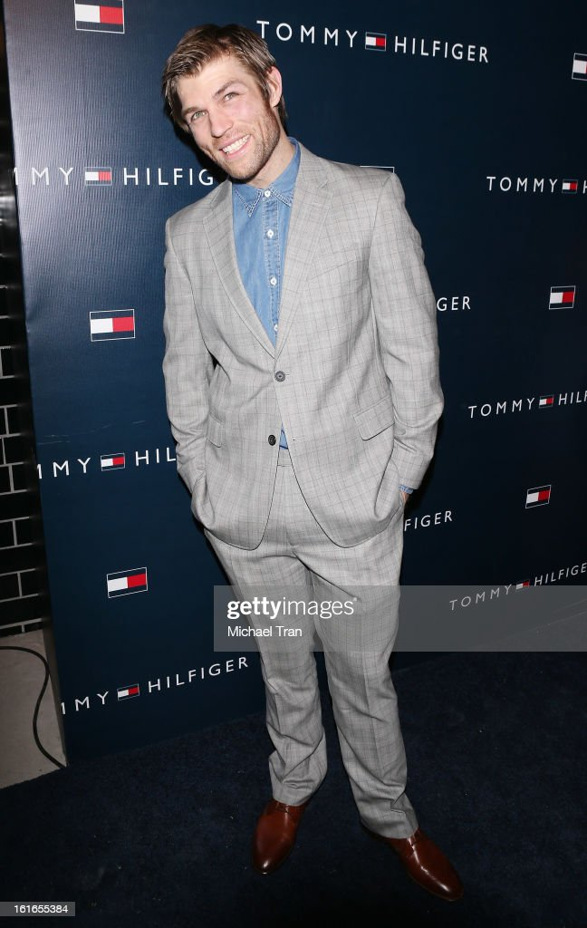 <a gi-track='captionPersonalityLinkClicked' href=/galleries/search?phrase=Liam+McIntyre&family=editorial&specificpeople=7988275 ng-click='$event.stopPropagation()'>Liam McIntyre</a> arrives at the Tommy Hilfiger West Coast Flagship grand opening event held on February 13, 2013 in West Hollywood, California.