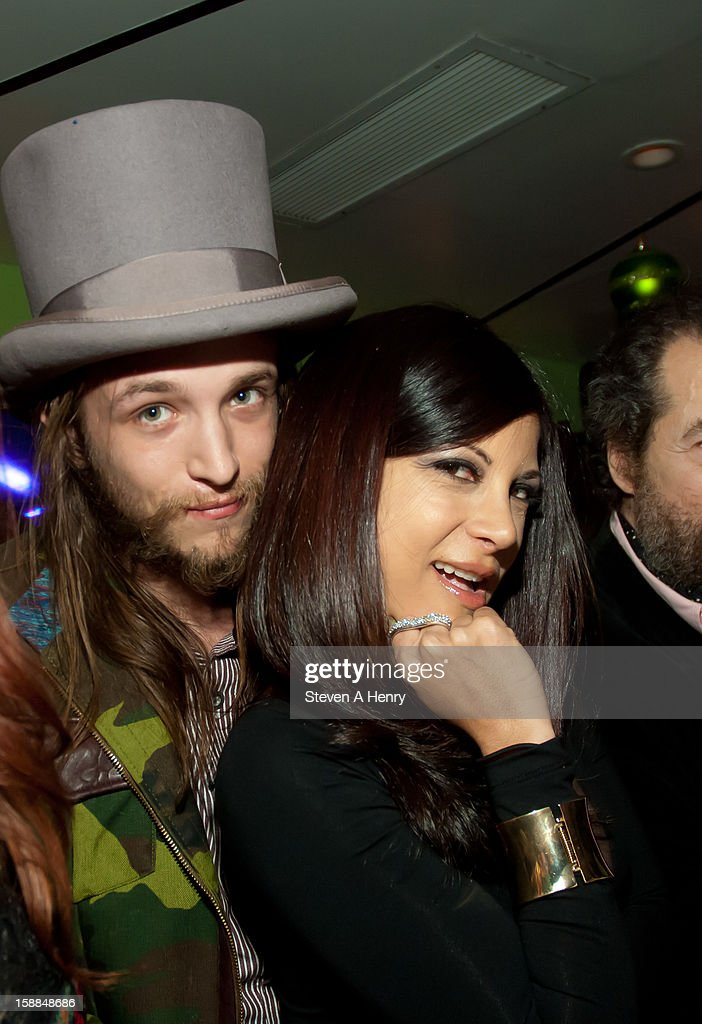 Liam McMullan and adult film actress Gia Jordan attend New Year's Eve 2013 at Bamboo 52 on December 31, 2012 in New York City.