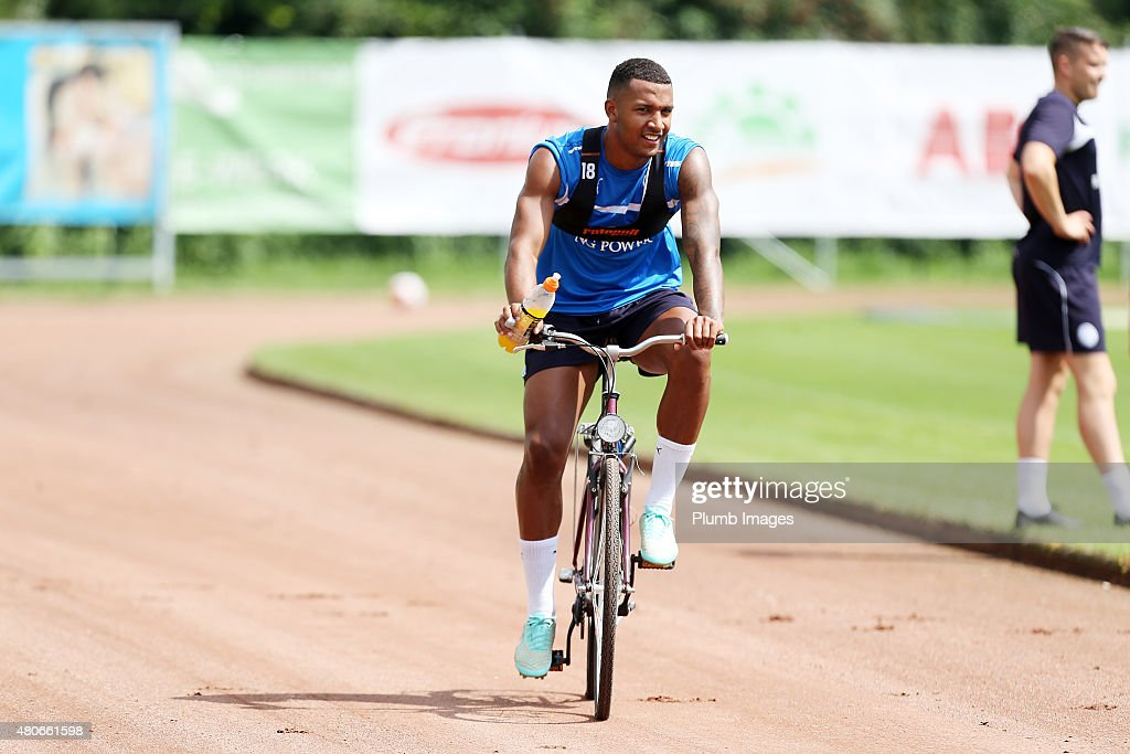 Liam Moore joins up with the squad during the Leicester City training session at their pre-season training camp on July 14, 2015 in Spielfeld, Austria.