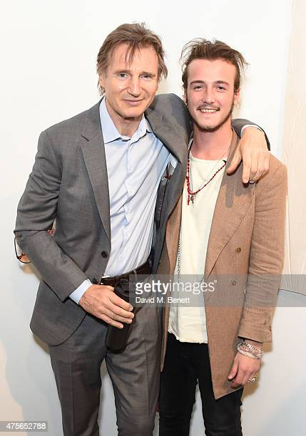 Liam Neeson and Michael Neeson attend the Maison Mais Non launch party as Micheal Neeson launches fashion gallery in Soho on June 2 2015 in London...