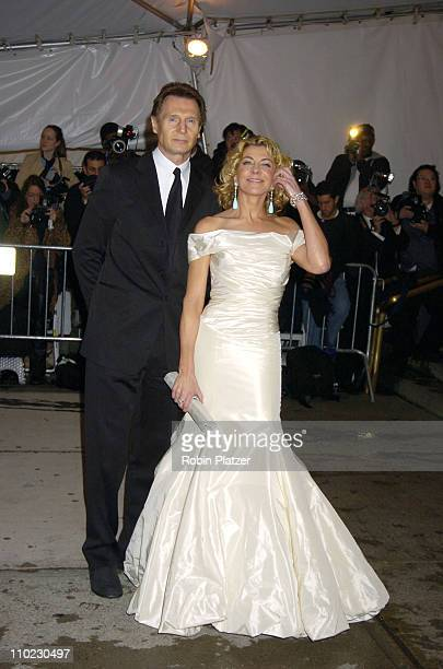 Liam Neeson and wife Natasha Richardson during The Costume Institute's Gala Celebrating 'Chanel' at The Metropolitan Museum of Art in New York City...