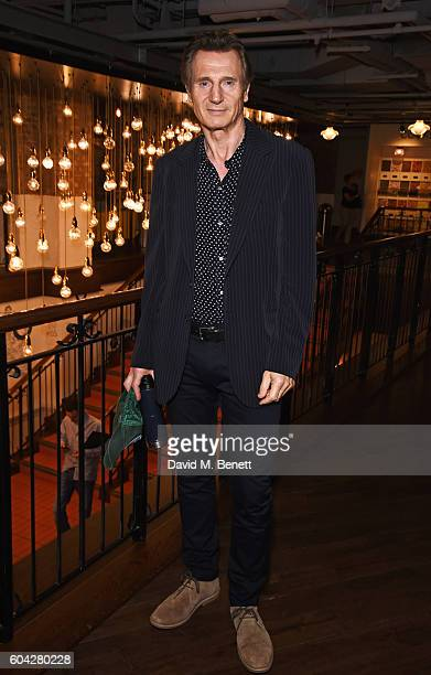 Liam Neeson attends a gala screening of 'Hunt For The Wilderpeople' at the Picturehouse Central on September 13 2016 in London England