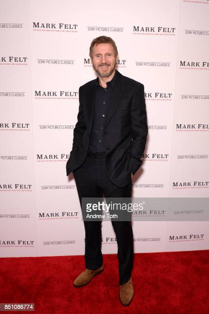 Liam Neeson attends 'Mark Felt The Man Who Brought Down The White House' New York premiere at the Whitby Hotel on September 21 2017 in New York City
