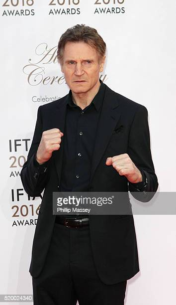 Liam Neeson attends the 2016 IFTA Film Drama Awards at Mansion House on April 9 2016 in Dublin Ireland