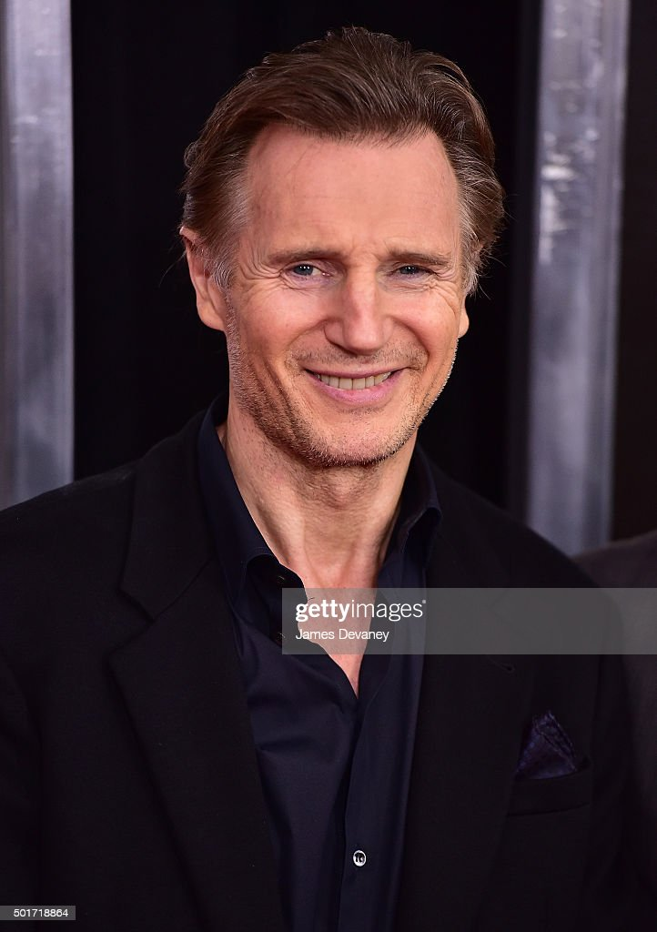 Liam Neeson attends the 'Concussion' premiere at AMC Loews Lincoln Square on December 16, 2015 in New York City.