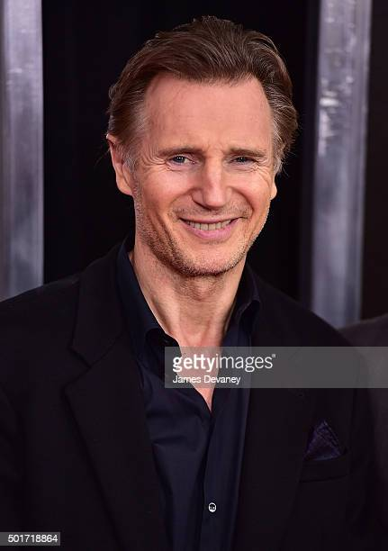 Liam Neeson attends the 'Concussion' premiere at AMC Loews Lincoln Square on December 16 2015 in New York City