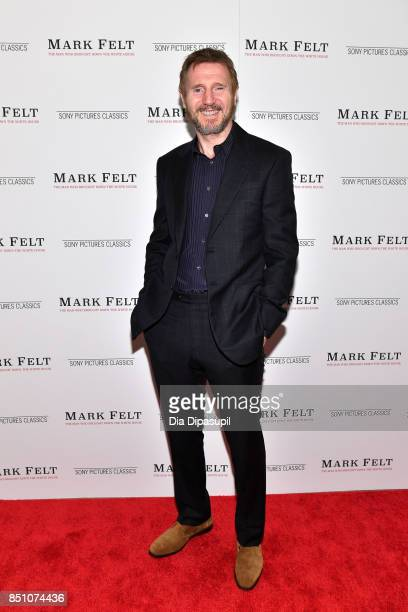 Liam Neeson attends the 'Mark Felt The Man Who Brought Down the White House' New York premiere at The Whitby Hotel on September 21 2017 in New York...