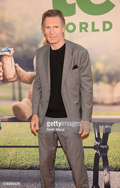 Liam Neeson attends the New York Premiere of 'Ted 2' at Ziegfeld Theater on June 24 2015 in New York City