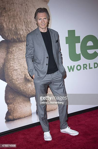Liam Neeson attends the New York Premiere of 'Ted2 at the Ziegfeld Theater on June 24 2015 in New York City