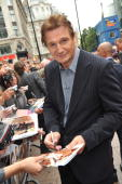 Liam Neeson attends the UK Film Premiere of 'The ATeam' at Empire Leicester Square on July 27 2010 in London England