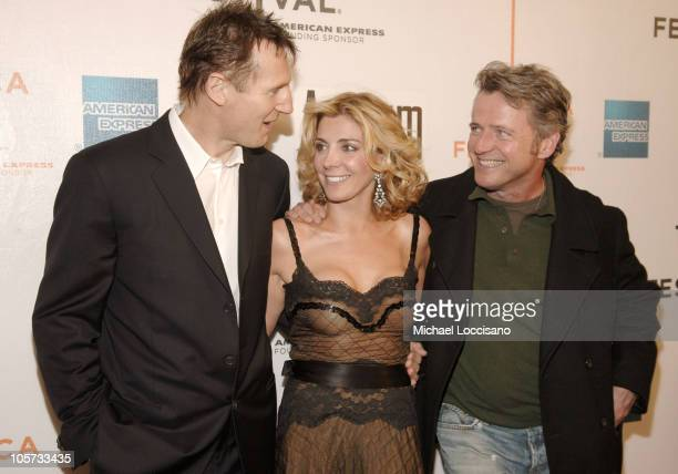 Liam Neeson Natasha Richardson and Aidan Quinn during 4th Annual Tribeca Film Festival 'Asylum' Premiere Arrivals at Stuyvesant High School in New...