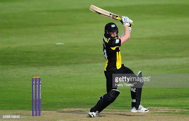 Liam Norwell of Gloucestershire cuts the ball during the Royal London One Day Cup match between Gloucestershire and Middlesex at the Brightside...