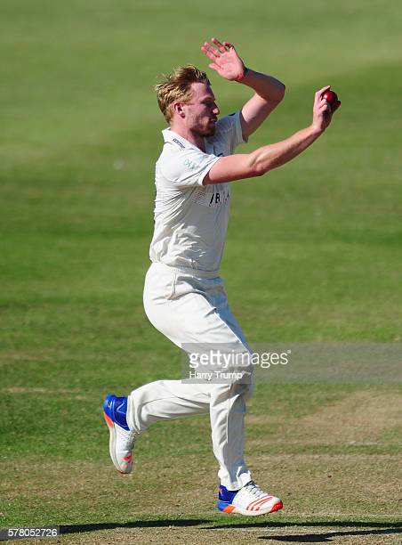 Liam Norwell of Gloucestershire during Day One of the Specsavers County Championship Division Two match between Gloucestershire and Leicestershire at...