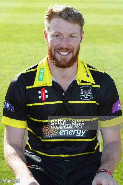 Liam Norwell of Gloucestershire in the Royal London One Day kit during the Gloucestershire County Cricket photocall at The Brightside Ground on April...
