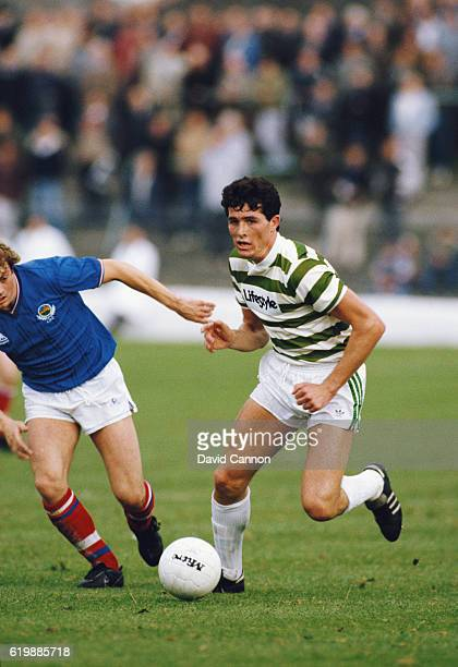 Liam O' Brien of Shamrock Rovers in action during a European Cup round of 32 match against Linfield on October 3 1984 in Dublin Ireland O'Brien went...