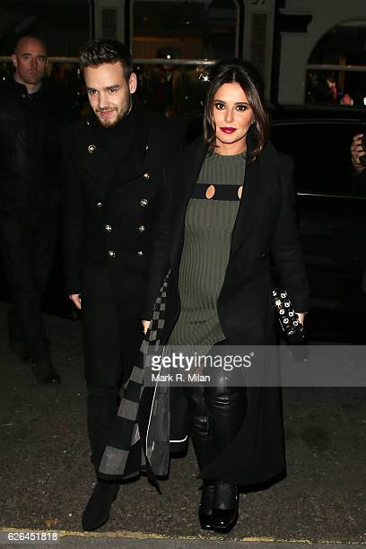 Liam Payne and Cheryl arriving at The Fayre of St James's Church on November 29 2016 in London England