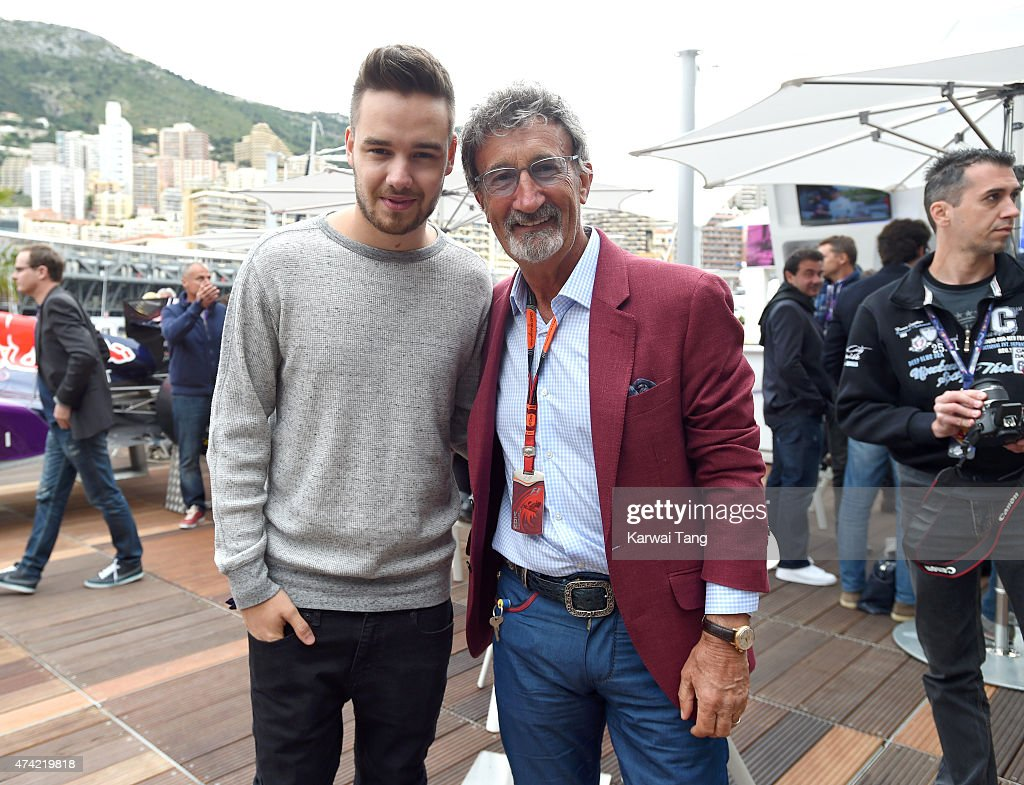 Liam Payne and Eddie Jordan attend the Infiniti Red Bull Racing Energy Station at Monte Carlo on May 21 2015 in Monaco Monaco