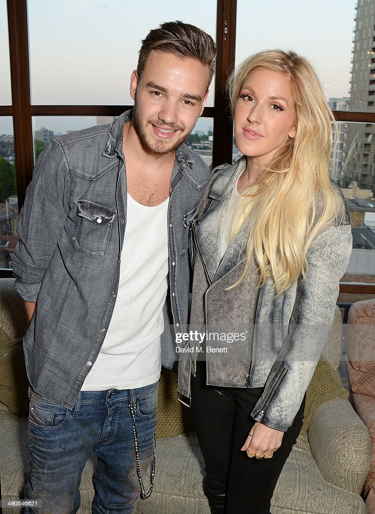 Liam Payne and Ellie Goulding attend the private launch of David Beckham For HM Swimwear at Shoreditch House on May 14 2014 in London England