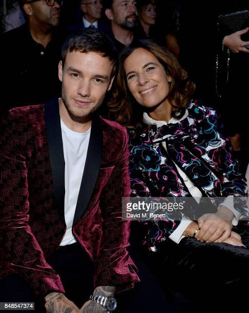 Liam Payne and Roberta Armani attend the Emporio Armani Show on September 17 2017 in London England