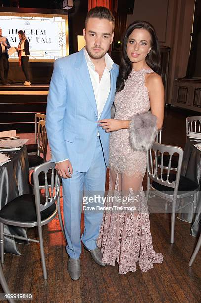 Liam Payne and Sophia Smith attend The Great Gatsby Ball in support of Trekstock at Bloomsbury Ballroom on April 16 2015 in London England