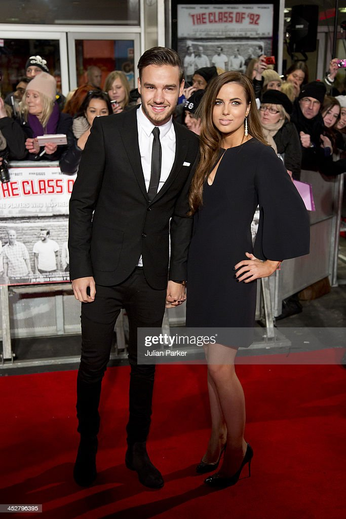 Liam Payne and Sophia Smith attend the world premiere of 'The Class of 92' at Odeon West End on December 1, 2013 in London, England.