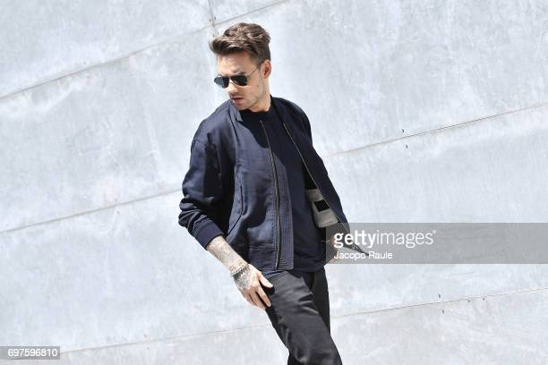 Liam Payne attends the Giorgio Armani show during Milan Men's Fashion Week Spring/Summer 2018 on June 19 2017 in Milan Italy