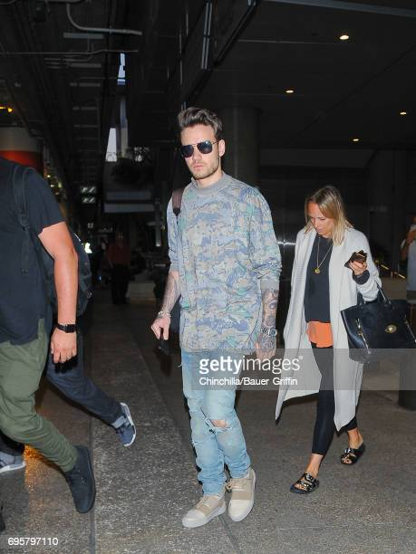 Liam Payne is seen at Los Angeles International Airport on June 13 2017 in Los Angeles California