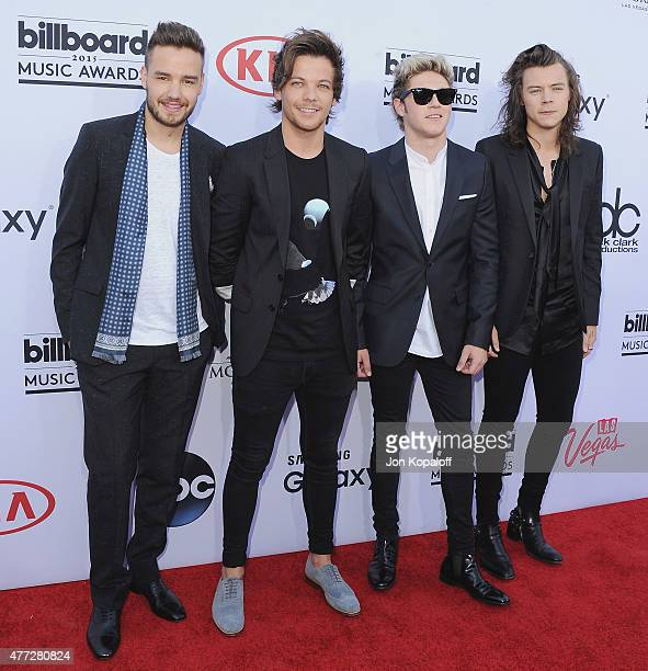 Liam Payne Louis Tomlinson Niall Horan and Harry Styles of One Direction arrive arrives at the 2015 Billboard Music Awards at MGM Garden Arena on May...