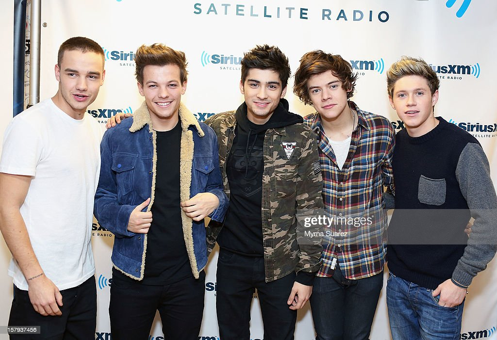 Liam Payne, Louis Tomlinson, Zayn Malik, Harry Styles and Niall Horan of One Direction visit SiriusXM's 'Artist Confidential' Series at SiriusXM Studios on December 7, 2012 in New York City.