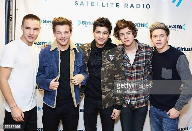 Liam Payne Louis Tomlinson Zayn Malik Harry Styles and Niall Horan of One Direction visit SiriusXM's 'Artist Confidential' Series at SiriusXM Studios...