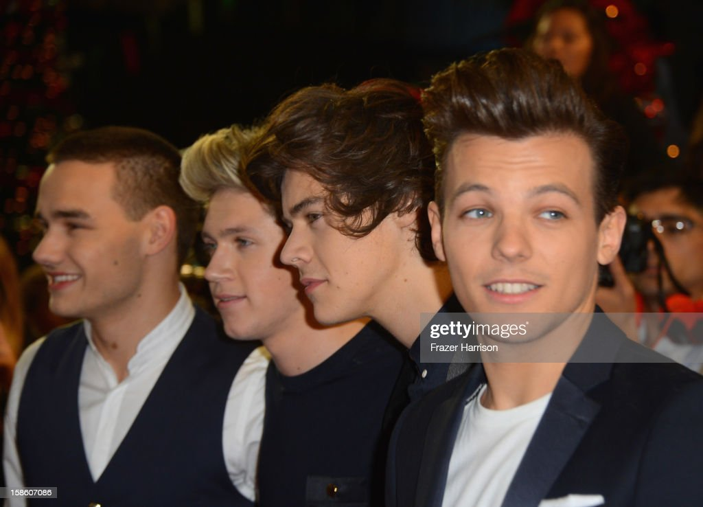 Liam Payne, Niall Horan, Harry Styles and Louis Tomlinson of One Direction arrive at Fox's 'The X Factor' Season Finale - Night 2 at CBS Television City on December 20, 2012 in Los Angeles, California.