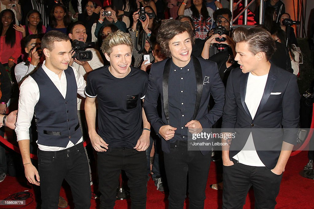 Liam Payne, Niall Horan, Harry Styles and Louis Tomlinson of One Direction attend the season finale of Fox's 'The X Factor' at CBS Television City on December 20, 2012 in Los Angeles, California.