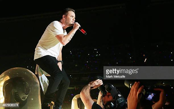 Liam Payne of One Direction performs during the 'On the Road Again' World Tour at Allianz Stadium on February 7 2015 in Sydney Australia