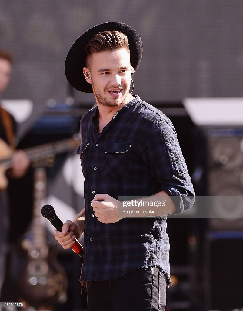Liam Payne of One Direction performs on ABC's 'Good Morning America' at Rumsey Playfield Central Park on August 4 2015 in New York City